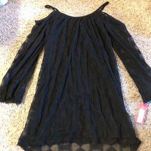 Xhilaration Long Sleeve Black Dress